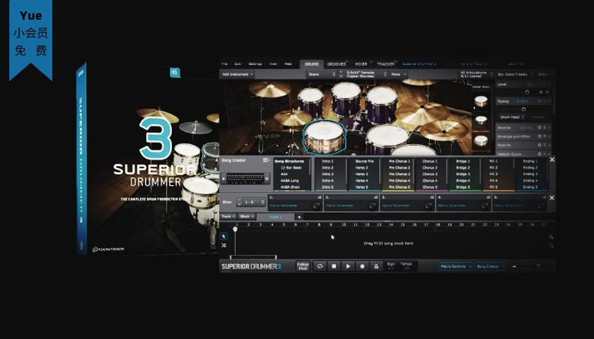 超级鼓音源-Superior Drummer 3